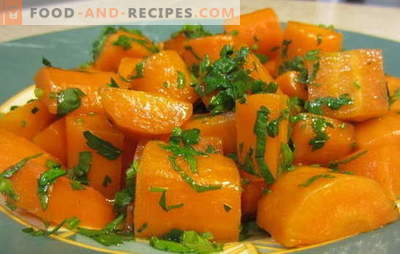 Stewed carrots are a bright and healthy side dish and are part of many dishes. The best recipes for stewed carrots and dishes with her participation
