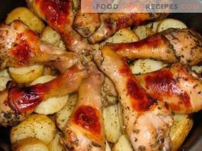 Kippeboutjes met aardappelen in een slowcooker