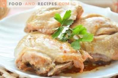 Kip gebakken in een slow cooker