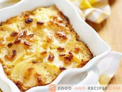 Aardappelen in zure room in de oven