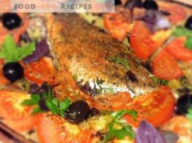 Zeebaars gebakken in de oven
