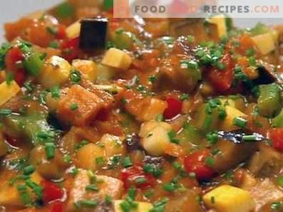 Plantaardige stoofpot in een slow cooker