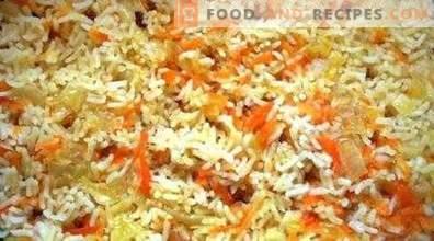 Rijst met wortels en uien