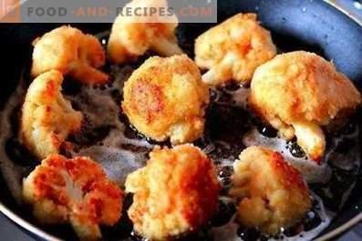Hoe bloemkool in een koekenpan te bakken
