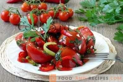 Snel gekruide tomaten