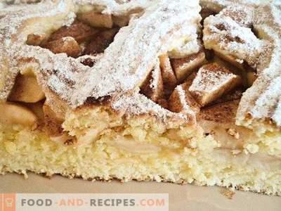 Torte mit Mürbeteigäpfeln