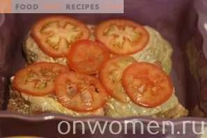 Kippendijen met tomaten in de oven