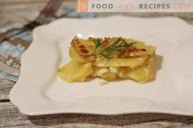 Gratin van aardappelen met knoflook