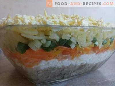 Mimosa-salade: een klassiek recept