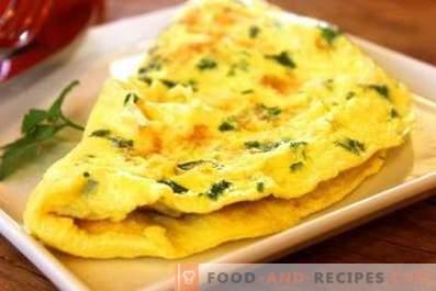 Hoe maak je een omelet met melk in een pan