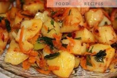 Aardappel gestoofd met groenten