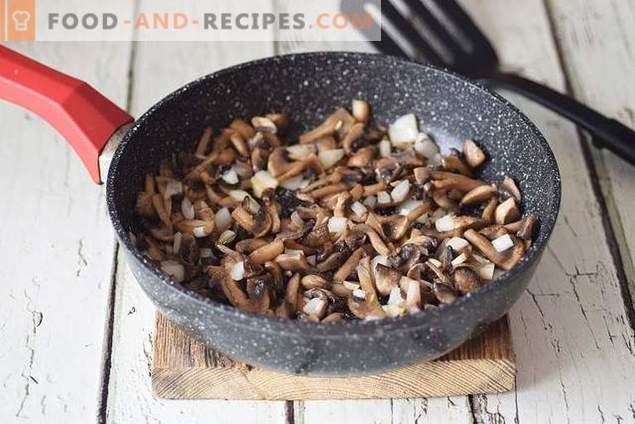 Universele jus met kip en champignons