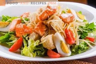 Salata de Caesar cu somon