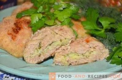 Kip is zurig met cottage cheese en knoflook