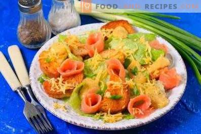 Caesarsalade met rode vis