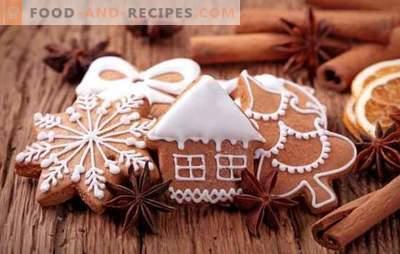 Peperkoek met suikerglazuur - een feestelijke smaak! Geschilderde peperkoek met glazuur: eiwit, chocolade, suiker