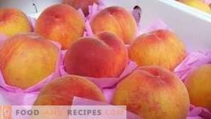 Como congelar pêssegos