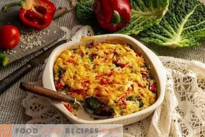 Vegetarische gratin van savooiekool