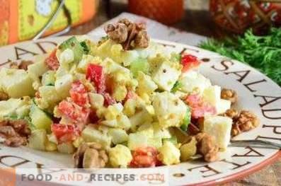 Salades met kaas