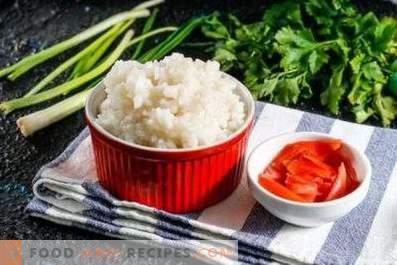 Hoe rijst voor broodjes te koken