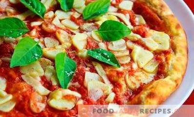 Pizza koken in de oven