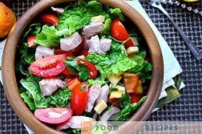 Salade van verse groenten