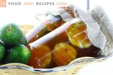 Komkommers met Chili-ketchup voor de winter