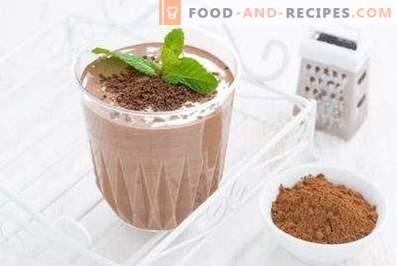 Chocolade-smoothie