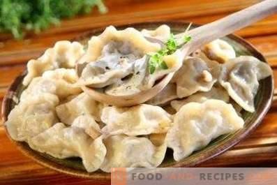 Dumplings met champignons