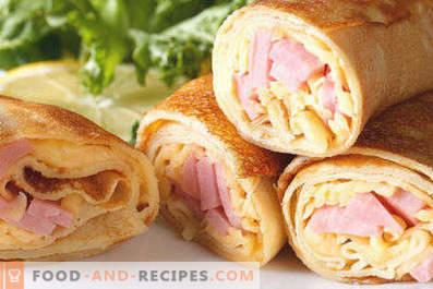 Vulling voor pannenkoeken met ham en kaas