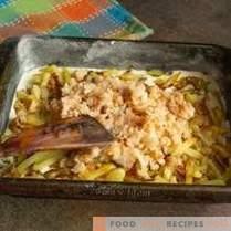 Vistaart met mintai en gebakken aardappelen