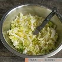 Kool en varkenssalade - snel en erg lekker