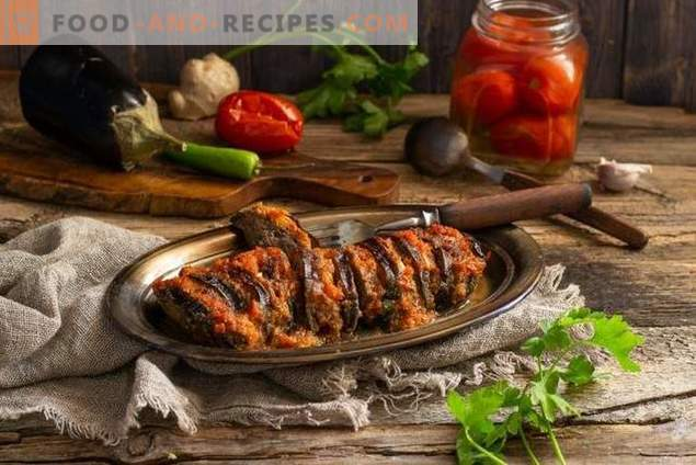 Rundvlees met aubergines in plantaardige saus - voedzaam en gezond