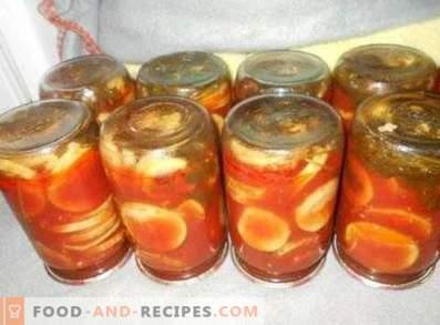Squash in tomatensaus voor de winter