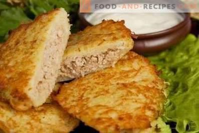 Aardappelpannenkoekjes met vlees
