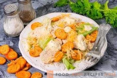 Kip koken voor Caesar salade