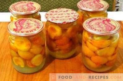 Abrikozen in hun eigen sap voor de winter