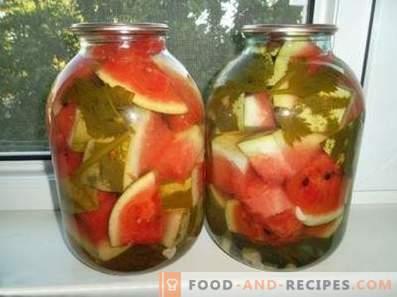 Gemarineerde watermeloenen voor de winter