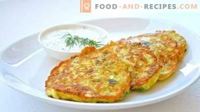 Courgettes en aardappelfritters