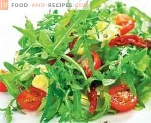 Salades met balsamicoazijn