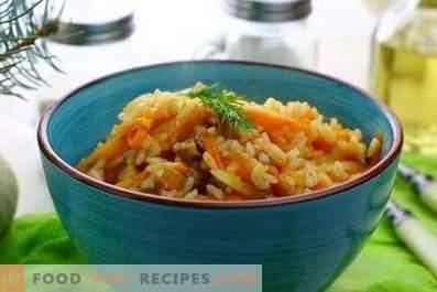 Rijst met stoofpot in een pan