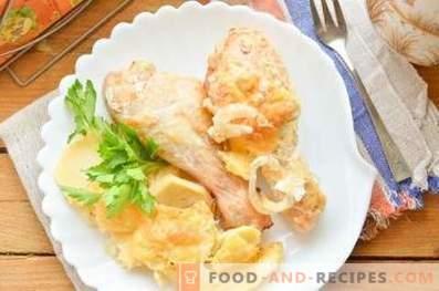 Kip koken met aardappelen in de oven
