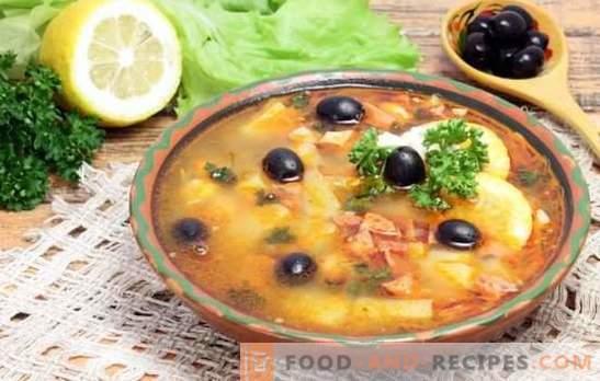 Solyanka vlees klassieker: recept stap voor stap stevige gerechten. Geheimen en stap-voor-stap recepten voor het bereiden van een aromatisch zeewier
