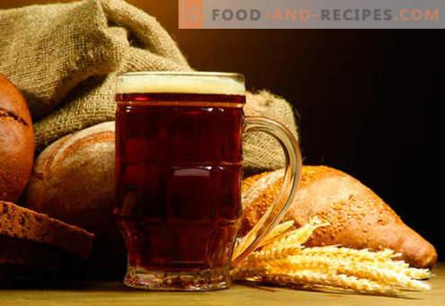 Zelfgemaakt kwas: brood, rogge, zuurdesem, zonder gist - de beste recepten. Hoe maak je kvass thuis.
